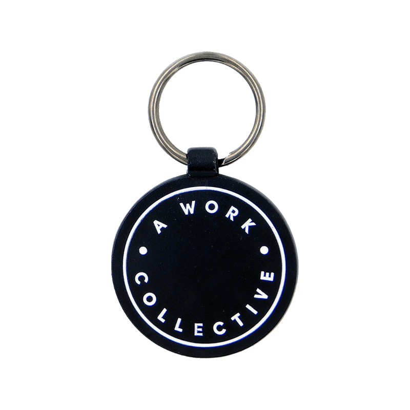 Sample Keyring with Dyed Black Metal