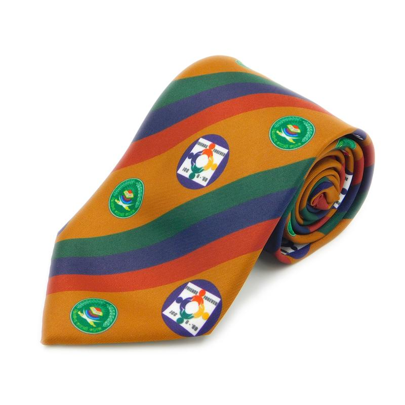 Printed: Allows for gradient and intricate designs to be represented on a tie.