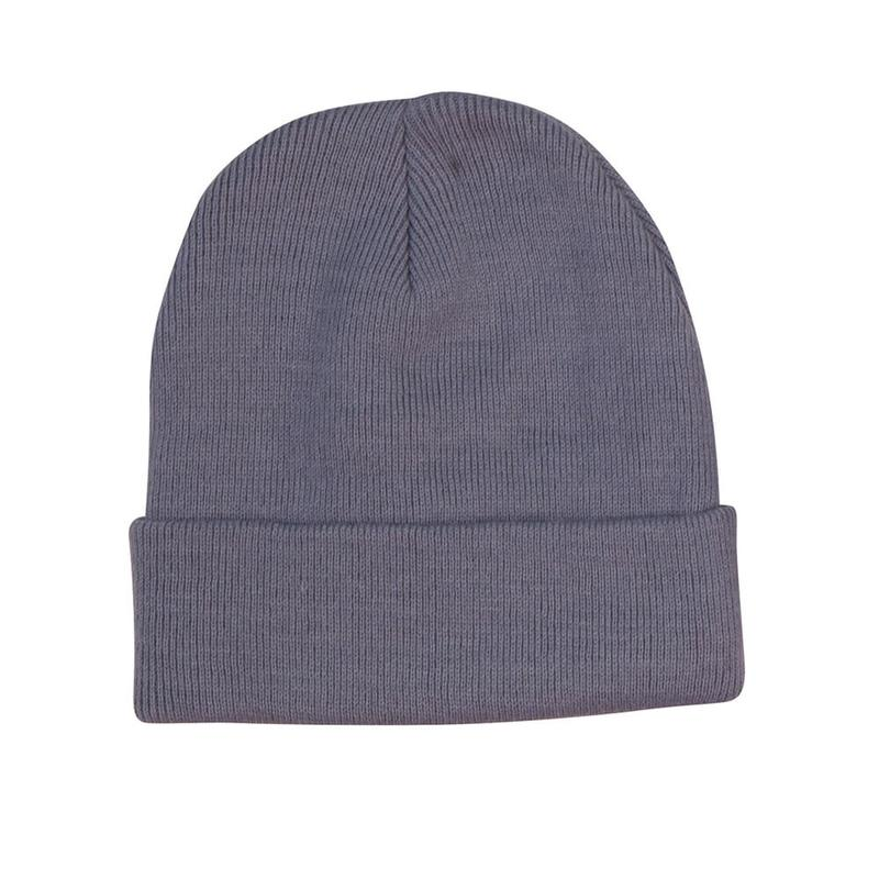 Roll Up Acrylic Beanie, 100% Acrylic, available in red, bottle green, navy, royal blue, black, charcoal or grey. Custom embroidery logo can be added.