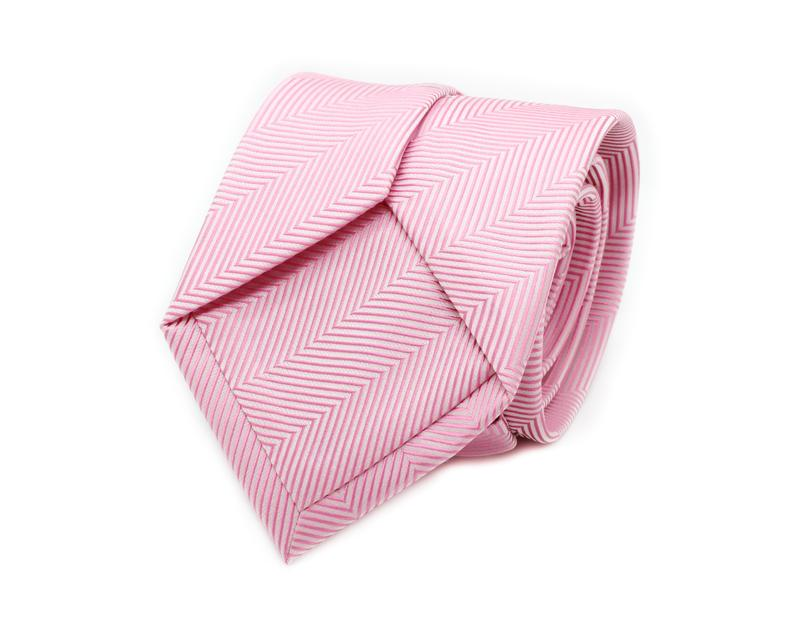 Featured on the lower back part of the tie, can customise with additional tonal or coloured logo, printed or woven.