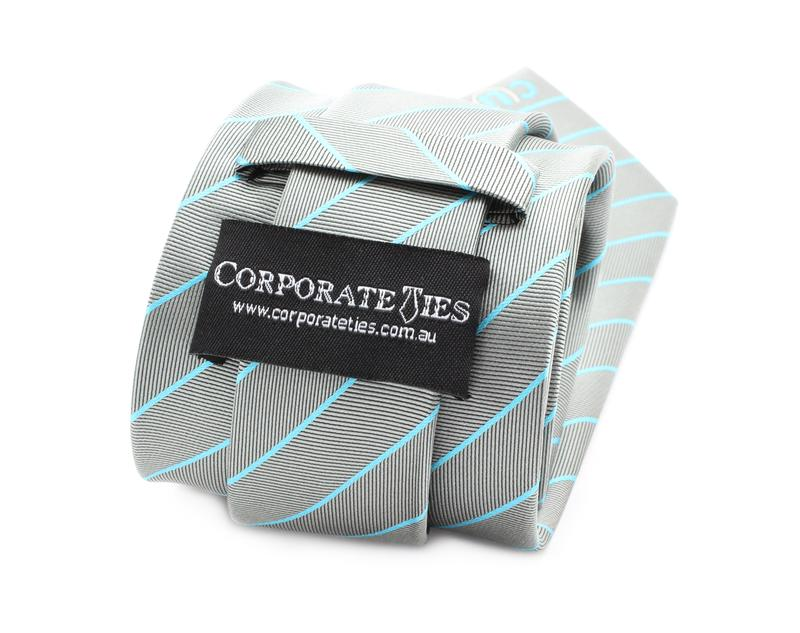 Feature on the back centre of tie, can customise with wording, logo or self.